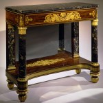 Steciled and Brass Inlaid Pier Table by Duncan Phyfe