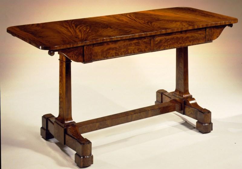 Plain-Style Mahogany Sofa Table by Duncan Phyfe