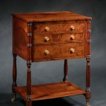 Mahogany Work Table by Duncan Phyfe