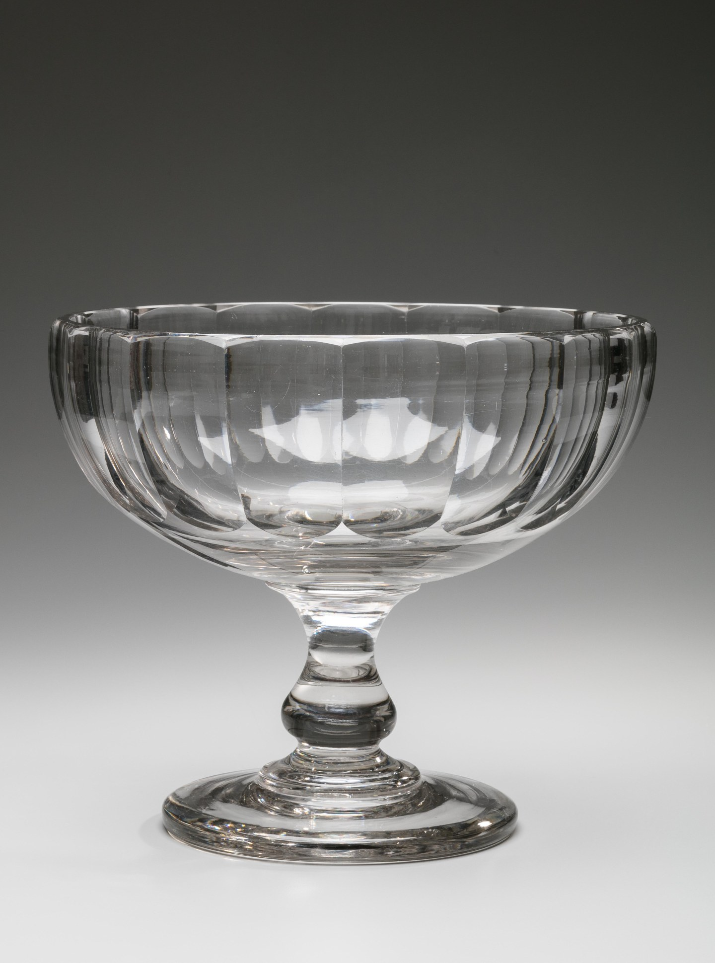 Colorless Cut Glass Compote, Pittsburgh
