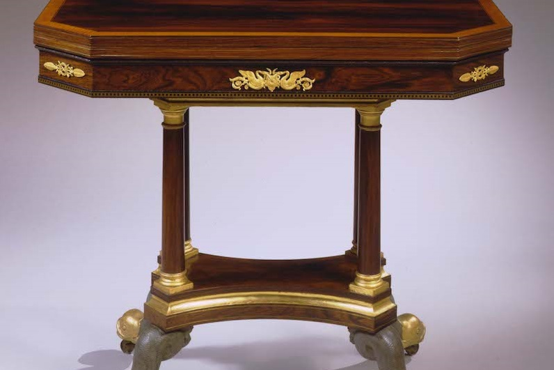 Bronze-Mounted Rosewood Card Table