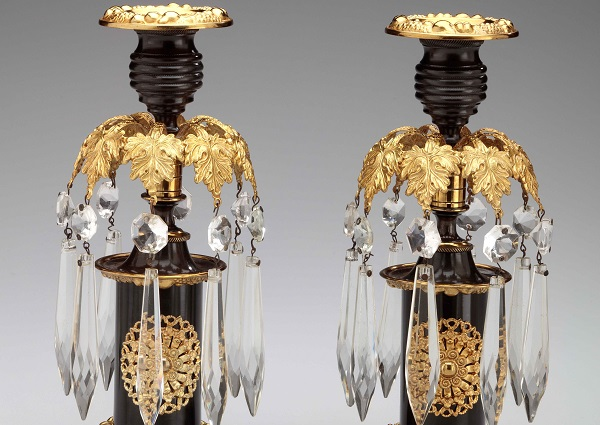 Pair of Brass Regency Candlesticks