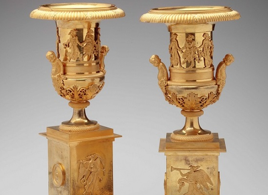 Gilt-Bronze Urns by Pignot