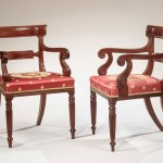 Pair of Regency Arm Chair from set of Dining Chairs