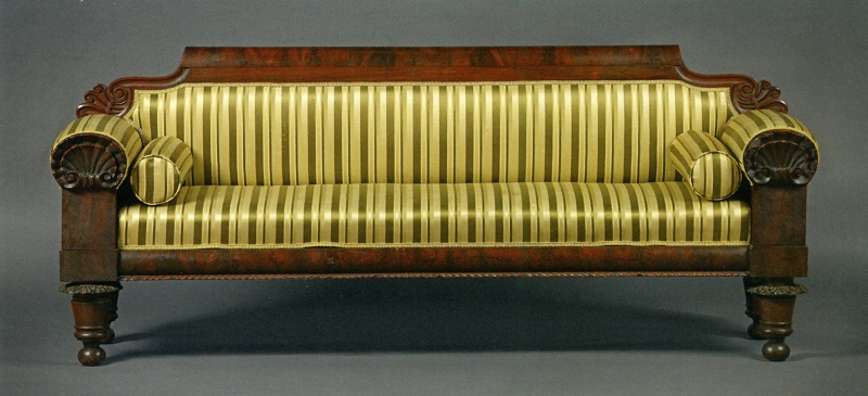Classical Carved Mahogany Sofa by Cook & Parkin