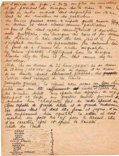 Standard Cocker Américain traduit de la main de Mme Françoise Firminhac - 3 - Courtoisie de M. Jean-Paul Citerne.