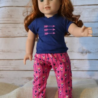 Arrow PJ Pants-Navy Tee