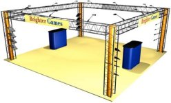 Crystal 20' x 20' EZ 12 truss display