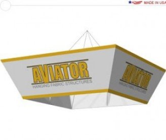 Aviator hanging trade show signs