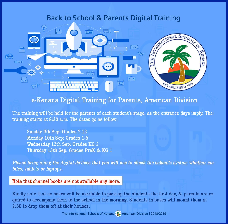 International Schools of kenana | American division - Parents Digital Training