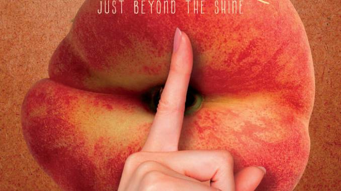 """artwork for Peach and Shine album """"Just Beyond the Shine"""""""