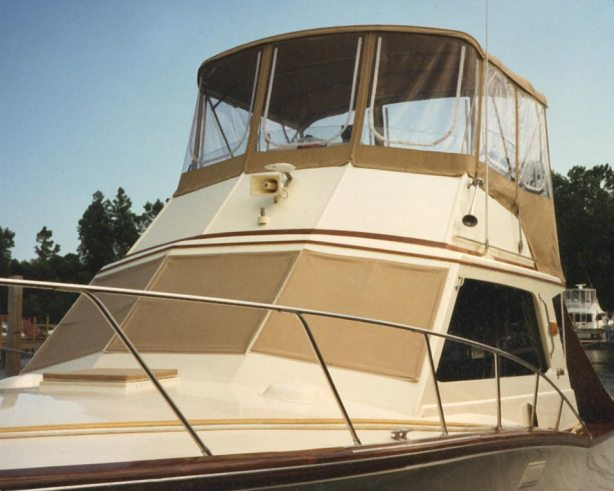 Bimini Top with Bridge Enclosure<br>& Windshield Covers