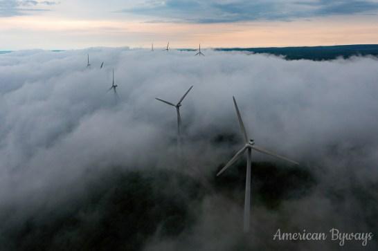 Fog Lifting Over Backbone Mountain
