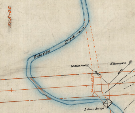 Circa 1936 Highway Construction Plan of WV Route 20