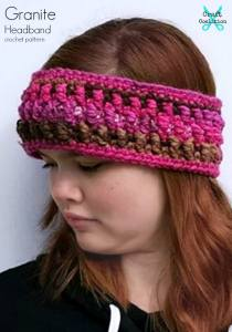 Granite Headband and Earwarmer free crochet pattern