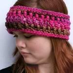 Granite Headband and Earwarmer free crochet pattern