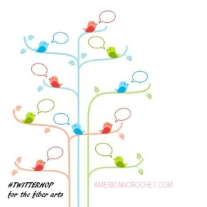 Birds on trees with talking bubbles. Social network concept