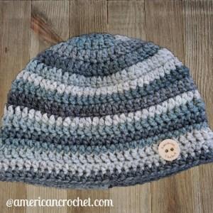 RDH Marble Beanie | American Crochet @americancrochet.com