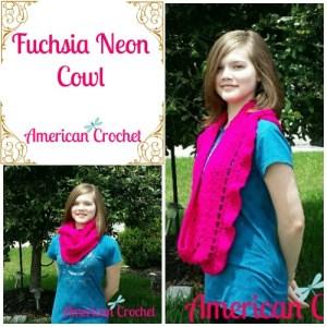 Fuchsia Neon Cowl
