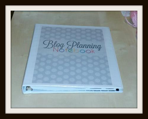 Blog Planning Notebook