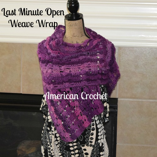 Open Weave Wrap | Free Crochet Pattern | American Crochet @americancrochet.com #freecrochetpattern