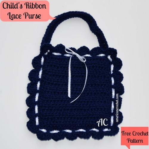 Childs Ribbon Lace Purse