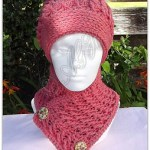 Crossed Ripple Slouchy Hat n Neckwarmer