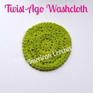 Twist-Ago Washcloth   Free Crochet Pattern   American Crochet @americancrochet.com #freecrochetpattern