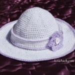 childs sun hat with detachable headband crochet flower
