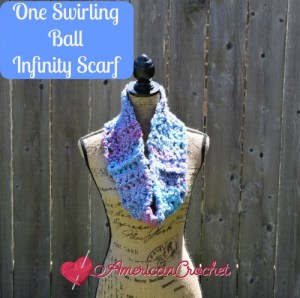 One Swirling Ball Infinity Scarf