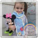 Little Girls Flowers Scarf free crochet pattern