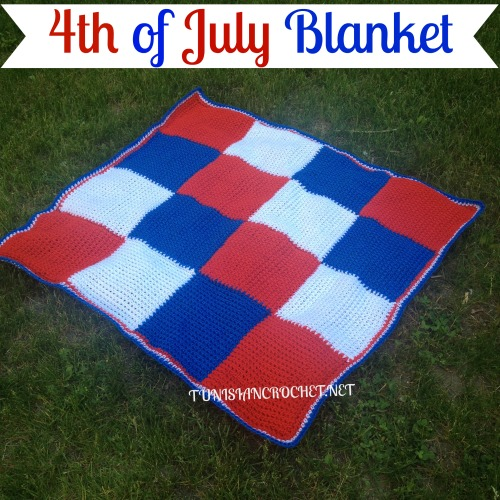 Fourth of July Blanket | Free Tunisian Crochet Pattern | @americancrochet.com @tunisiancrochet.net