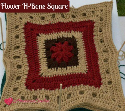 Flower H-Bone Square