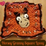 Horsey Granny Square Lovey free crochet pattern
