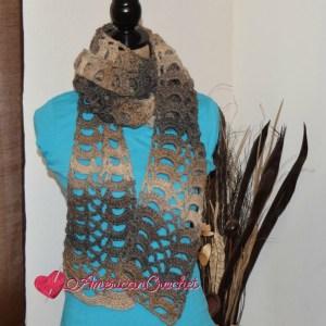 Rocky Road Lace Scarf | Free Crochet Pattern | American Crochet @americancrochet.com #freecrochetpattern