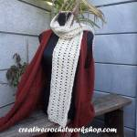 Chunky Starry Eyed Scarf free crochet pattern