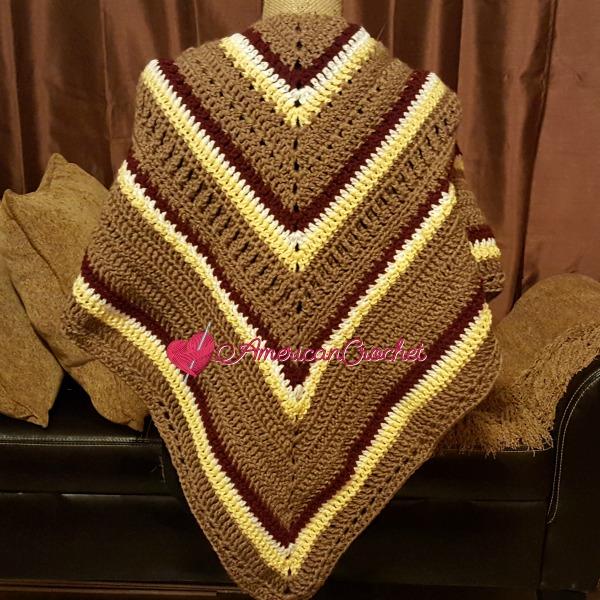 Fall Shawl CAL Part 5   Free Crochet Pattern   American Crochet #freecrochetalong