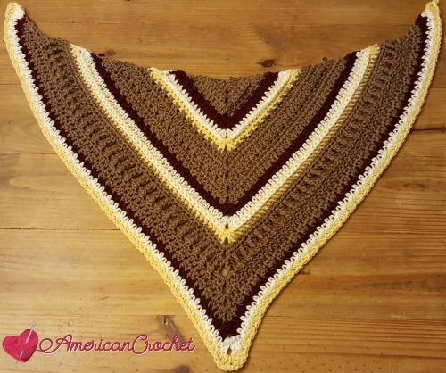 Fall Shawl CAL Part 3 | Free Crochet Pattern | American Crochet #freecrochetalong