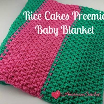 Rice Cakes Preemie Baby Blanket