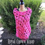 Royal Crown Wrap free crochet pattern