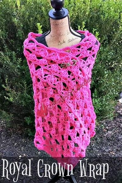 Royal Crown Wrap free crochet pattern