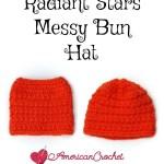 Radiant Stars Messy Bun Hat