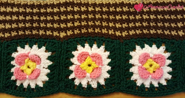 Fields Of Flowers Afghan ~ Part One & Two | Free Crochet Pattern | American Crochet @americancrochet.com @creativecrochetowrkshop.com #freecrochetpattern #freecrochetalong