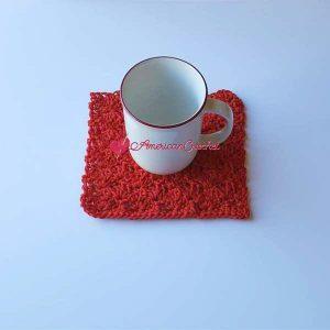 Strawberry Sherbet Toffee Coaster   Free Crochet Pattern   American Crochet @americancrochet.com #freecrochetpattern