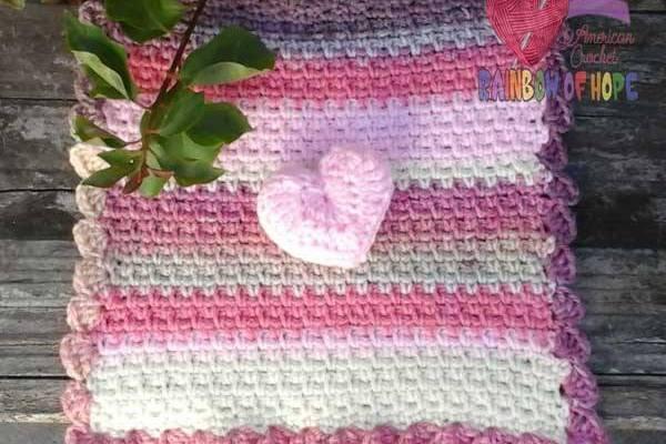 Puffed Heart Lovey free crochet pattern