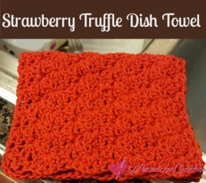Strawberry Truffle Dish Towel ~ Free Crochet Pattern