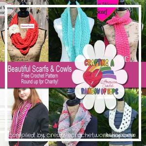 6 FREE Beautiful Scarfs and Cowls crochet patterns