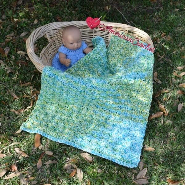 Serendipity do dah Baby Blanket   Free Crochet Pattern   American Crochet @americancrochet.com #freecrochetpattern