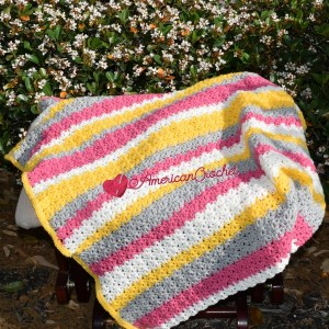 Tickled Blossom Baby Blanket