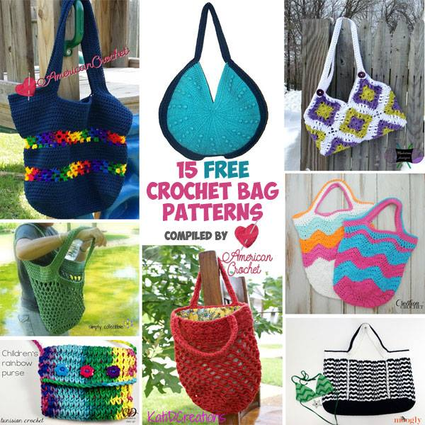 15 Free Beautiful Bags American Crochet Roundup